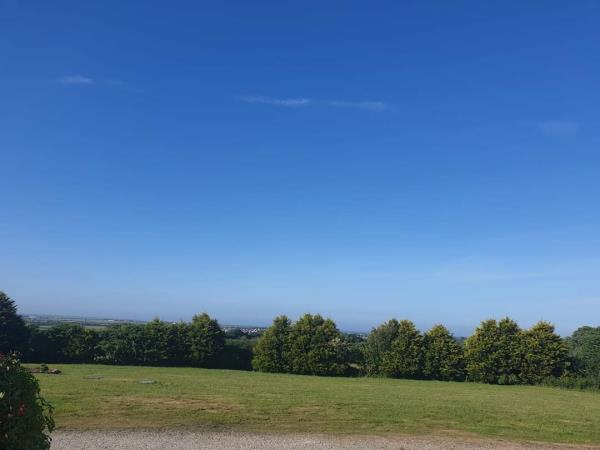 Stunning Views to the Lizard and beyond at Roselidden House Camping