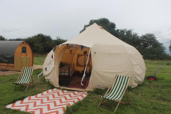 5m Bell Tent at Hulland House