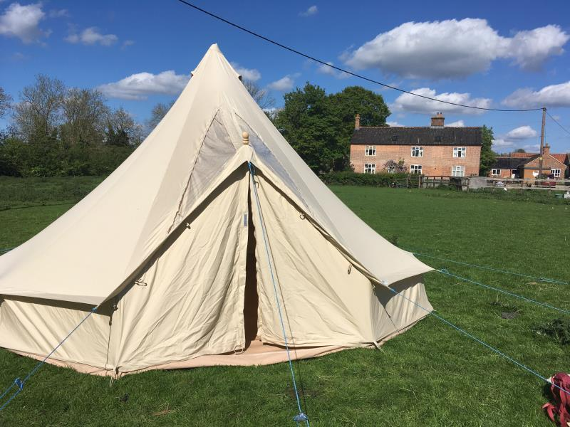 bell tent on the meadow